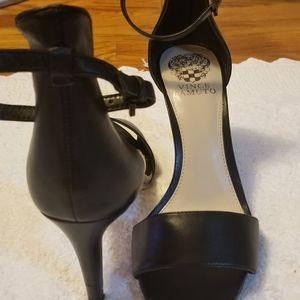 Vince Camuto black  court ankle strap sandal